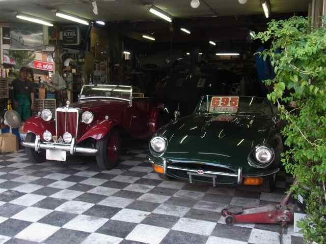 Jaguar E-typeと、MG-TD(かな?).jpg